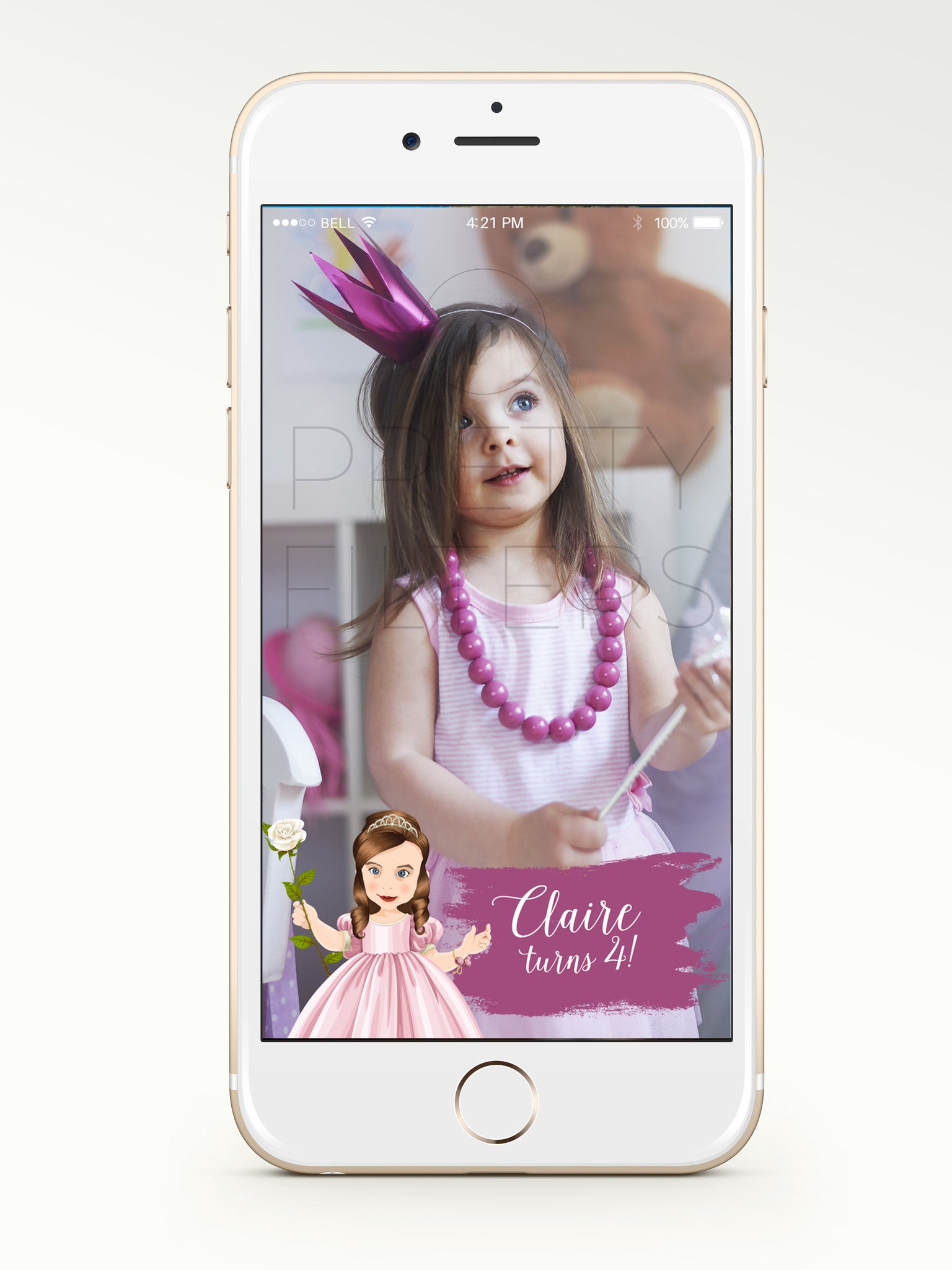 Birthday Princess Personalised Portrait