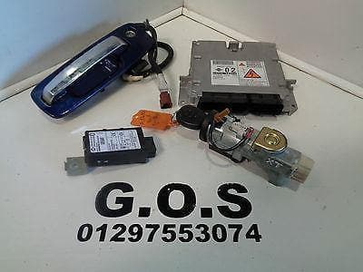 04 - 07 NISSAN X-TRAIL T30 2.2 DCi LOCK SET ECU IGNITION BARREL KEYS 23710 EQ44A