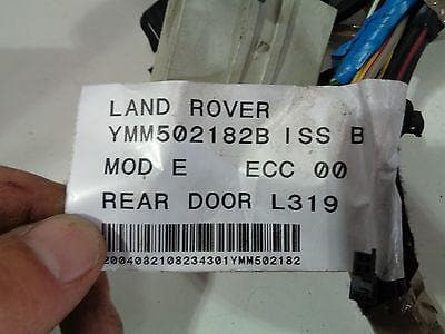2004 - 2009 LAND ROVER DISCOVERY 3 OFF SIDE REAR DOOR WIRING LOOM YMM502182B #2