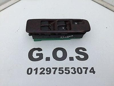 MITSUBISHI SHOGUN PAJERO MK3 WOOD MAIN ELECTRIC WINDOW SWITCH PACK DRIVERS OSF
