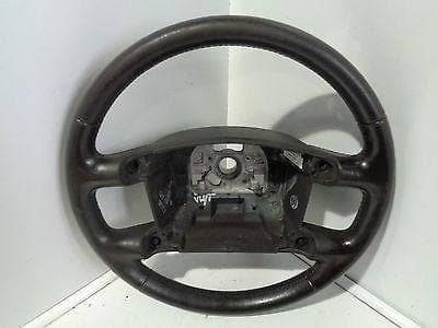 2002 - 2007 VW TOUAREG 7L BLACK LEATHER STEERING WHEEL NICE CONDITION