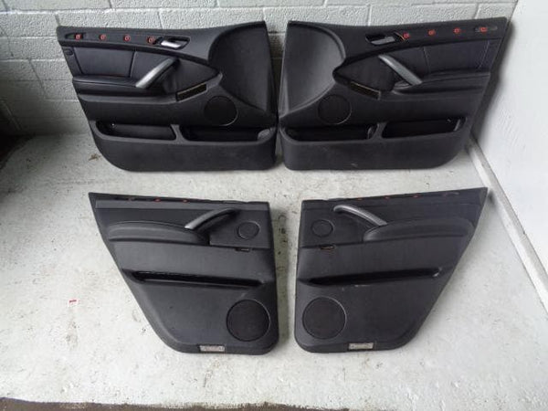 BMW X5 Door Cards X4 Black Leather E53 Facelift 2004 to 2006 B05032