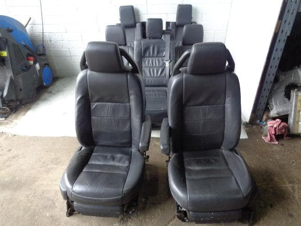 2009 Discovery 3 Seats Black Soft Leather x7 With Fixings Land Rover K13030 XXX