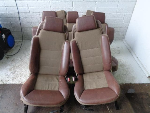 Discovery 2 Seats Set Of 7 Half Leather Adventurer Land Rover (1998-2004) #24019