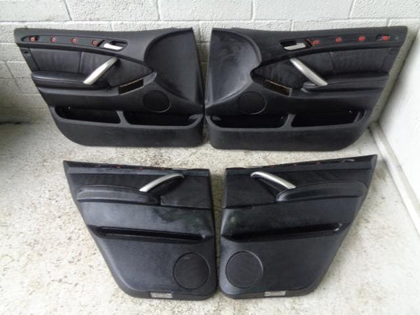 BMW X5 Door Cards X4 Black Leather E53 (2001-2004) #B21039 XXX