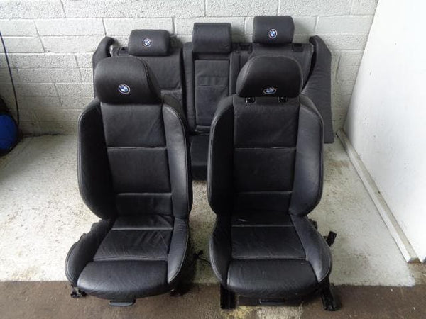 BMW X5 E53 Black Electric Leather Seats Set of 5 (2001-2006) #B21039