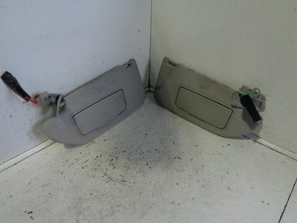 2002 - 2009 VOLVO XC90 PAIR OF SUN VISORS WITH MIRRORS AND BACK LIGHTS #2201