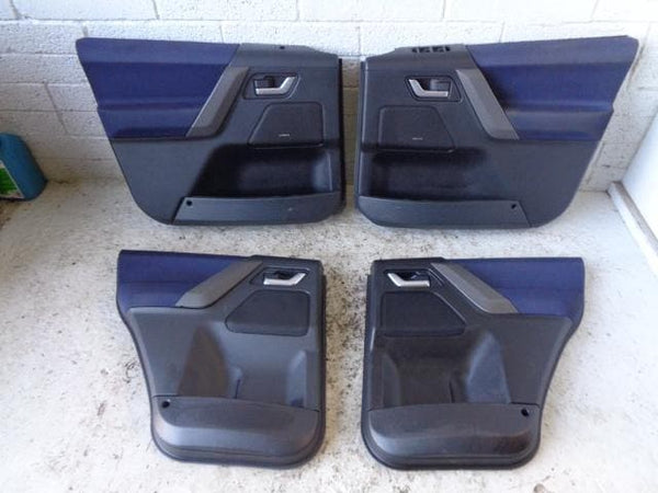 Freelander 2 Door Cards Set Of 4 in Black and Blue Land Rover 06 to 10 B11099