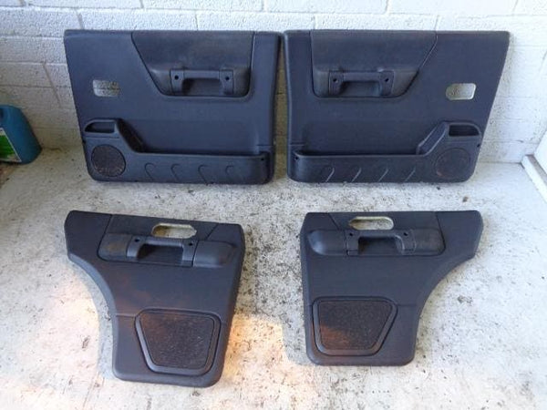 Discovery 2 Door Cards Set of x4 Black Land Rover 1998 to 2004 27099