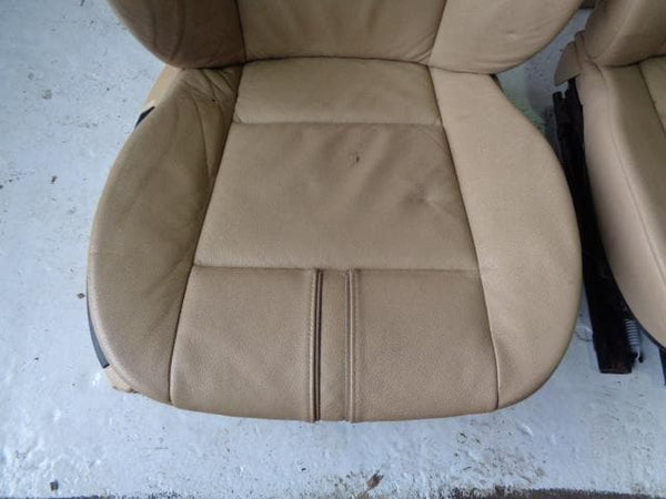BMW X3 E83 Seats Cream Leather Manual set of 5 2006 to 2010 B12020 XXX
