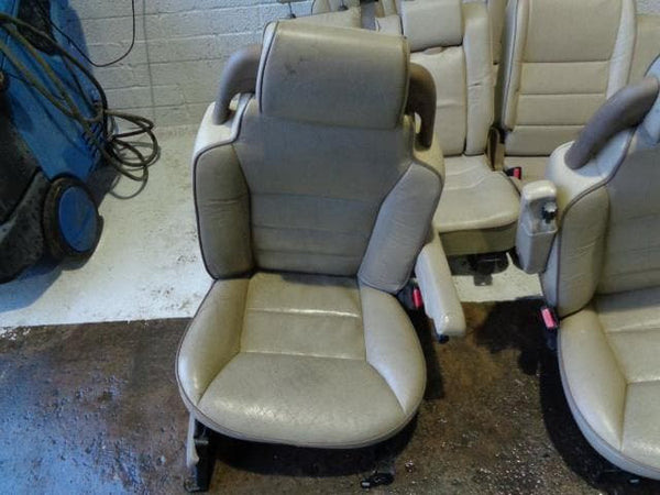 Discovery 2 Seats Set Of 7 Beige Leather Electric Land Rover (1998-2004) #29118