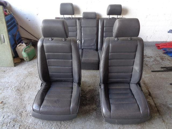 2002 -2010 VW TOUAREG 7L SET OF 5 ELECTRIC BLACK LEATHER SEATS #25098