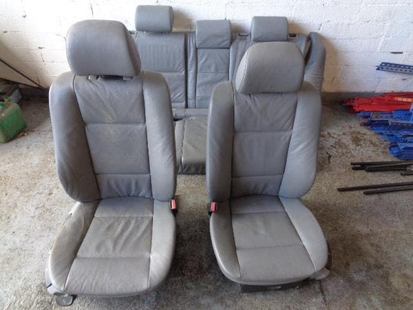 2001 - 2006 BMW X5 E53 SET OF 5 GREY MANUAL LEATHER SEATS WITH SCREENS #25098