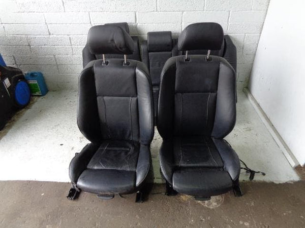 BMW X5 Leather Seats In Black Electric Set of 5 E53 Facelift 2004 to 2006 B05099 XXX