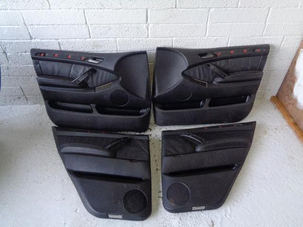 BMW X5 Door Cards X4 Black Leather E53 Facelift (2004-2006) #02019 XXX