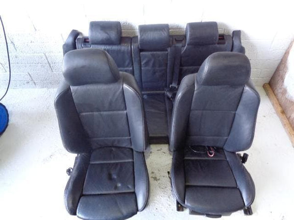 BMW X5 E53 Black Electric Leather Seats Set of 5 (2004-2006) #B04128