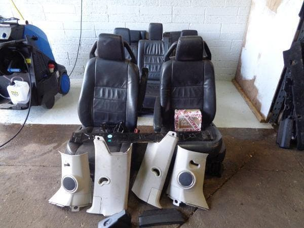 2008 Discovery 3 HSE Seats Black Soft Leather x7 With Fixings Land Rover #260319