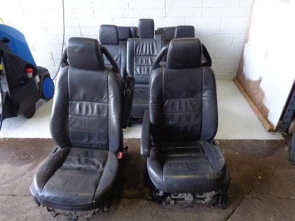 2008 Discovery 3 Seats Black Soft Leather x7 With Fixings Land Rover #02019 XXX