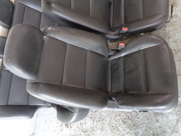 2002 - 2009 KIA SORENTO FULL SET OF 5 BLACK LEATHER SEATS #2903