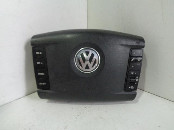 02 - 07 VOLKSWAGEN TOUAREG MULTI FUNCTION LEATHER STEERING WHEEL AIRBAG #04108