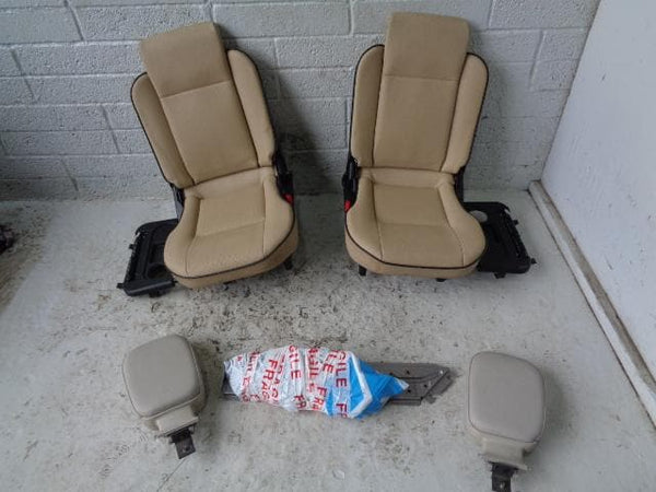 Discovery 2 Dickie Seats Pair 3rd Row Beige Leather Land Rover B27010 XXX