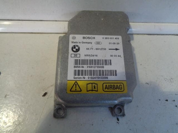 2001 - 2006 BMW X5 E53 AIR BAG SRS MODULE ECU 0285001458 / 65.77-6912755