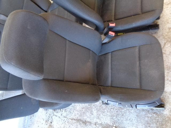 2006 - 2010 BMW X3 E83 LCi BLACK CLOTH MANUAL SEATS SET OF 5