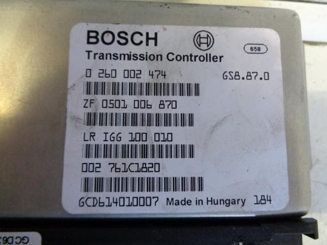LAND ROVER DISCOVERY 2 TD5 OR V8 AUTOMATIC TRANSMISSION CONTROLLER ECU  IGG100010