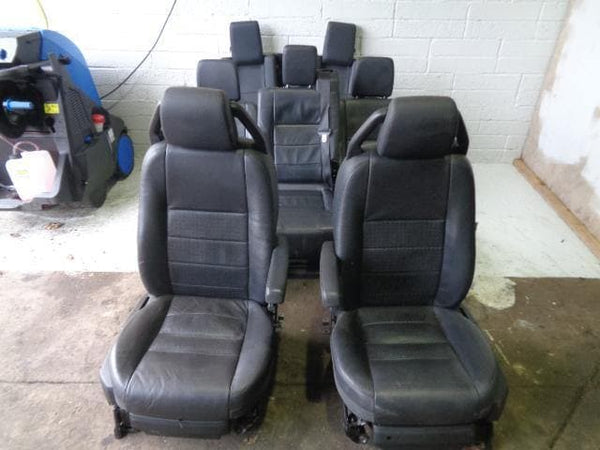 Discovery 3 Leather Seats x7 Black Electric Land Rover (2004-2009) #13128 XXX