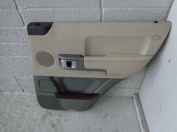2000 - 2006 BMW X5 E53 NEAR SIDE REAR DOOR CARD - BLACK LEATHER 707976701