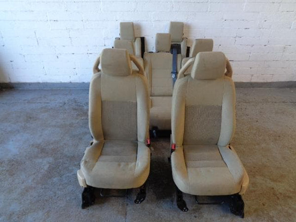 Discovery 3 Seats 7x Full Set In Beige Cloth Land Rover #1605