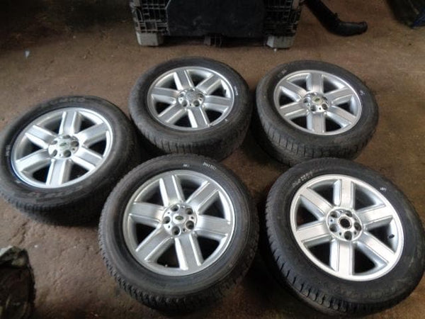 "02 - 09 RANGE ROVER L322 SET OF 5X 19"" ALLOY WHEELS AND TYRES 255/55R19 #2905"