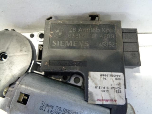 2000 - 2006 BMW X5 E53 SUNROOF MOTOR 67 61 8 381 4809