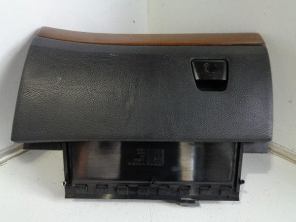 VOLVO XC90 COMPLETE GLOVE BOX COMPARTMENT IN BLACK WITH DARK WOOD TRIM