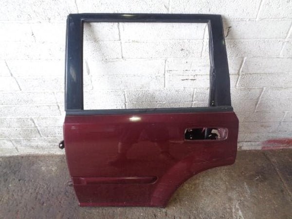 2001 - 2007 NISSAN X-TRAIL T30 NEAR SIDE REAR DOOR IN ROYAL RUBY RED AX5 #2006