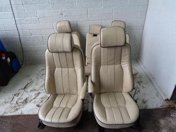 Range Rover L322 Seats Cream Leather Set Of 5 With Screens Vogue #B01029