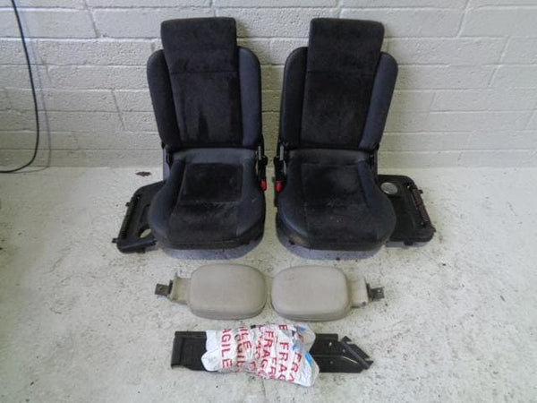 Discovery 2 Dickie Seats Pair 3rd Row Black Half Leather & Alcantara #B03019