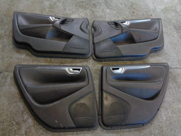 2003 - 2007 VOLVO XC70 SET OF 4X DOOR CARDS IN BLACK LEATHER #1001