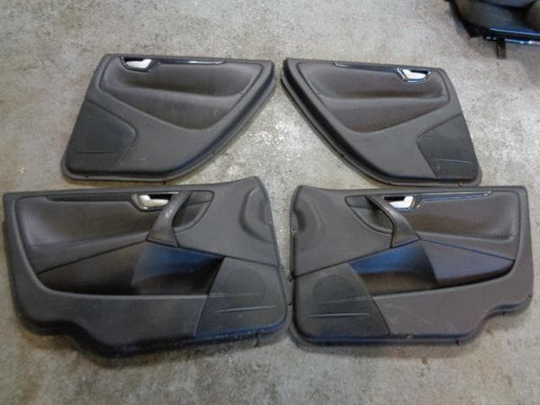 2003 - 2007 VOLVO XC70 SET OF 4X DOOR CARDS IN BLACK LEATHER #1101