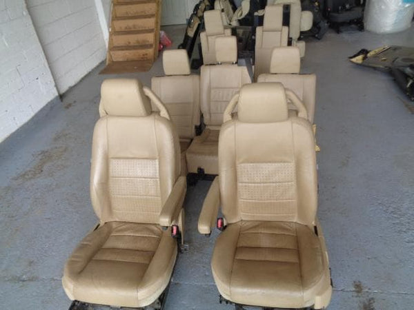 2004-09 LAND ROVER DISCOVERY 3 FULL SET OF 7 ALPACA LEATHER ELECTRIC SEATS #1107