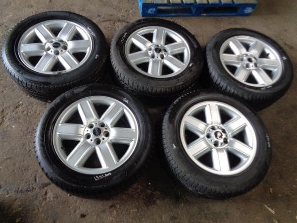 "02 - 09 RANGE ROVER L322 SET OF 5X 19"" ALLOY WHEELS AND TYRES 255/55R19 #2007"