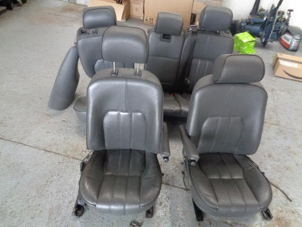 Range Rover L322 Seats Grey Leather Black Piping Full Set (2002-2006) #2807