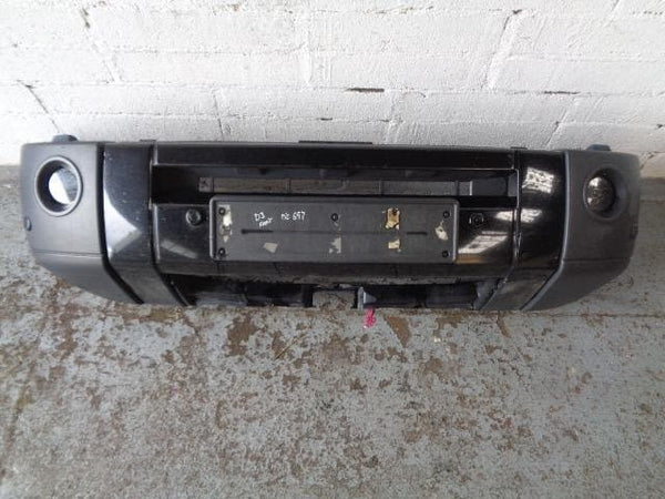 04 - 09 LAND ROVER DISCOVERY 3 COMPLETE FRONT BUMPER IN BLACK  #3107 XXX