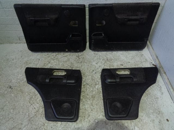 Discovery 2 Door Cards Set of x4 Black Land Rover 1998 to 2004 P10129