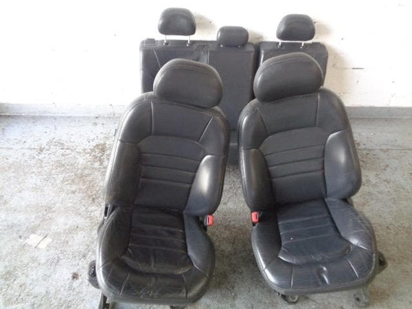 2001 - 2008 JEEP CHEROKEE KJ SET OF 5 BLACK LEATHER HEATED SEATS #3107