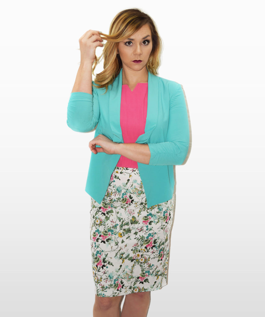 Flower Garden Pencil Skirt
