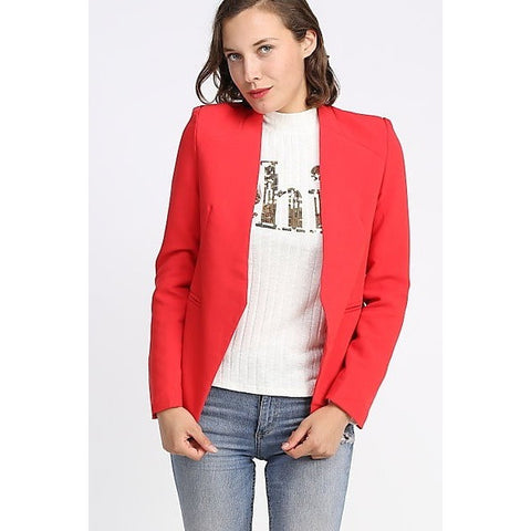 Chic Red Blazer