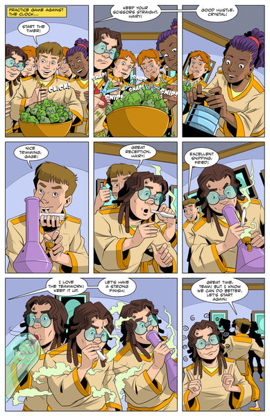 "Hairy Pothead Comic #5 - ""Professor Vape!"""