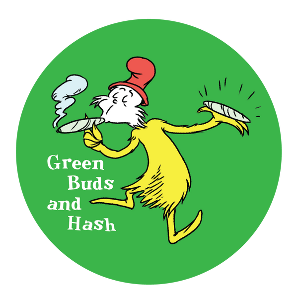 Sticker: Mr Stash - Green Buds and Hash