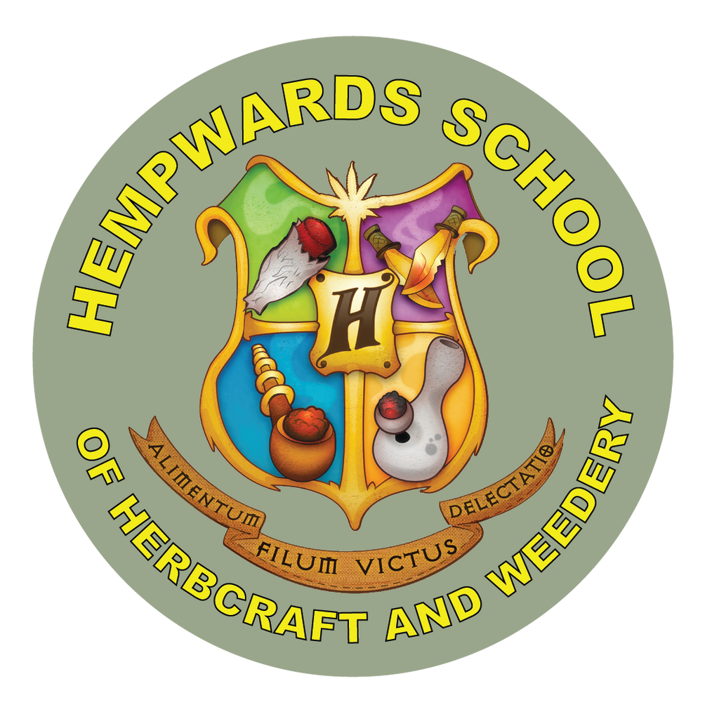 Sticker: Hempwards School of Herbcraft and Weedery